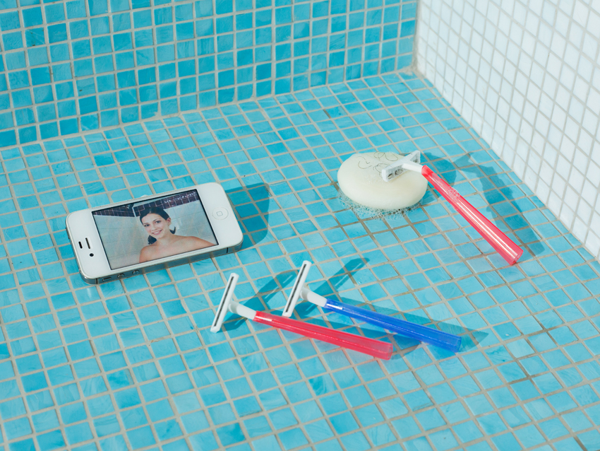 How to shave under the shower